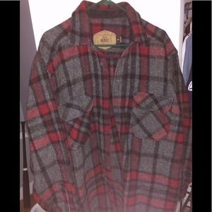 Men's XL Woolrich Red/Black/Gray Flannel